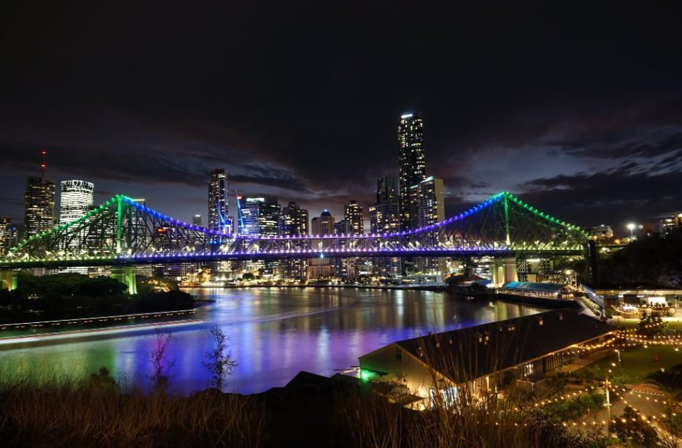 Brisbane at night time