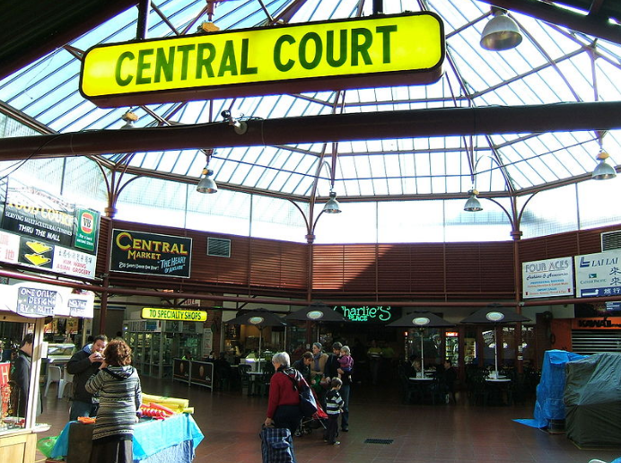Main court of the Adelaide Central Market.