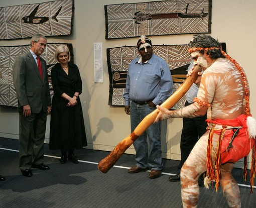 Use of Didgeridoo during the performance of the Aboriginal song