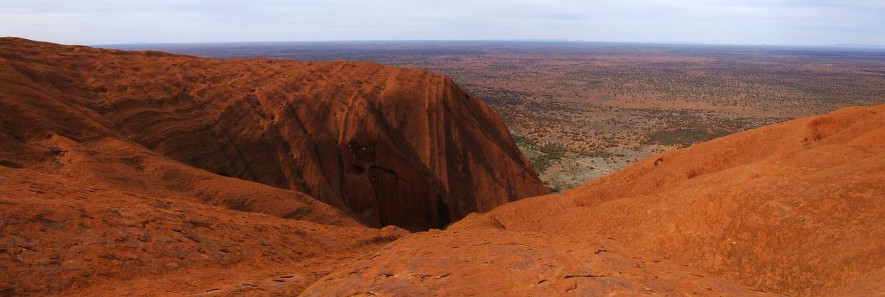 Panorama from the top of Uluru