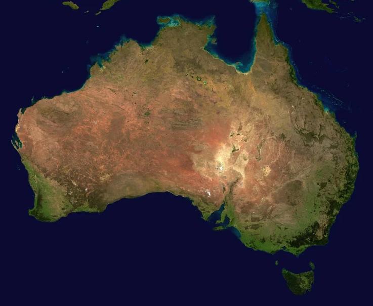 photo of Australia continent
