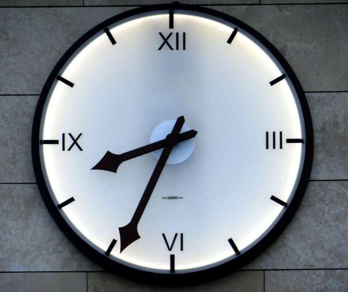 A Clock at 8.34