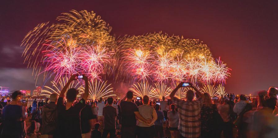 a display of fireworks for celebration